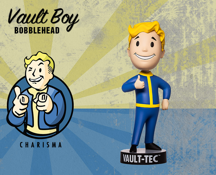 Fallout Shelter 4 Vault Boy 111 Bobbleheads Figure Model Toys Collection  in Box